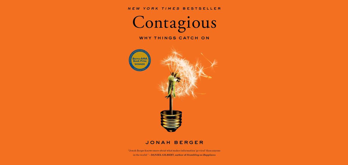 De cover van Jonah Berger's boek 'Contagious'