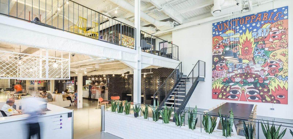 Google's kantoor in Madrid, Spanje (Jump Studios, foto door Gareth Gardner)