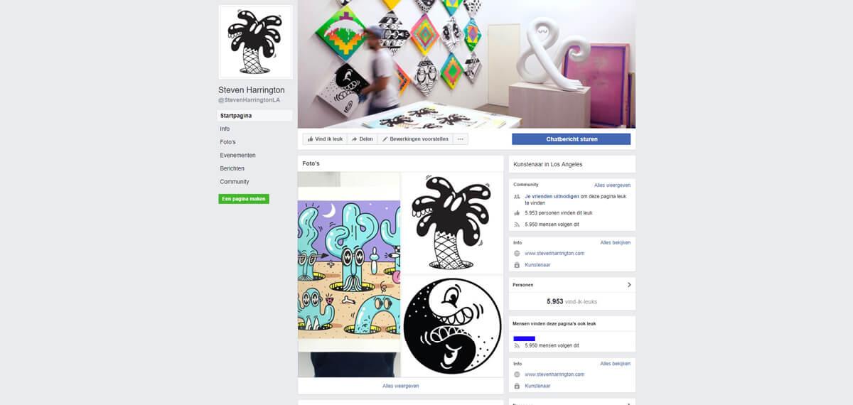 Steven Harrington's Facebook: een personal branding voorbeeld