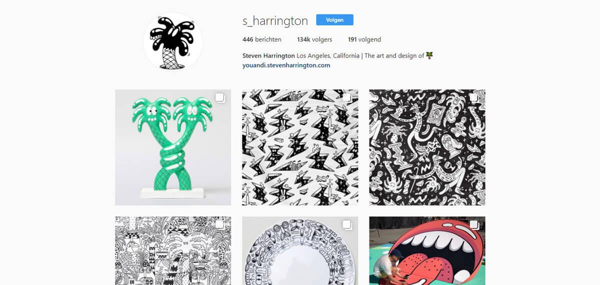 Steven Harrington's Instagram: een personal branding voorbeeld