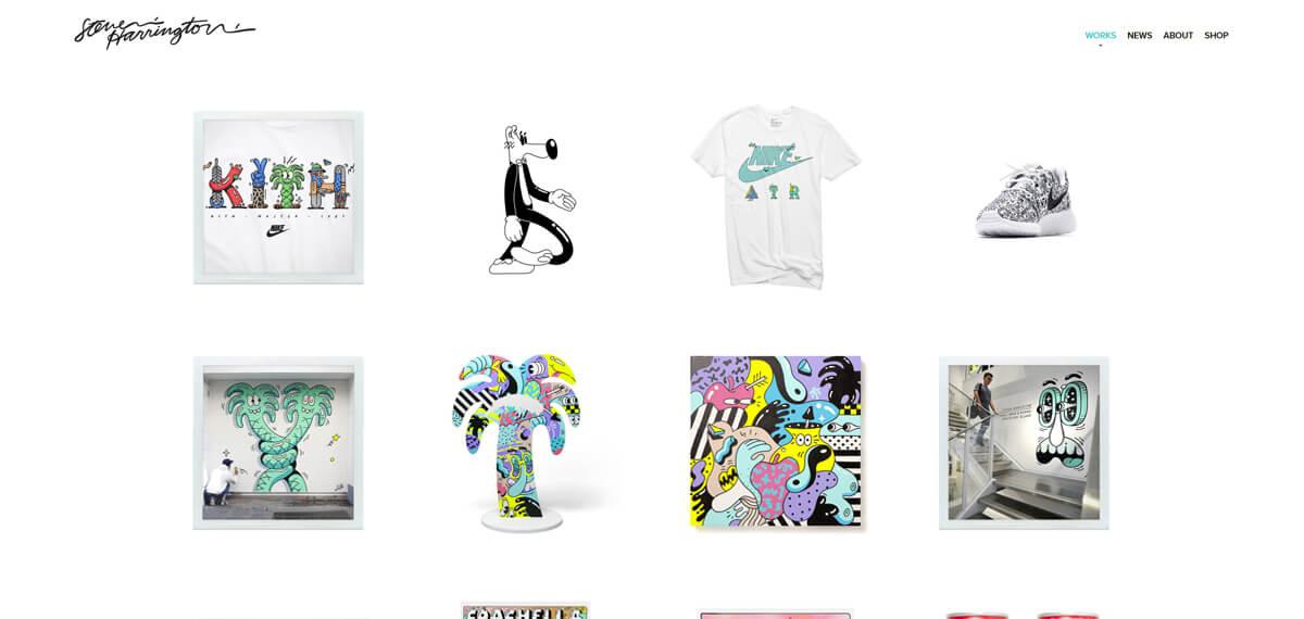 Branding: Steven Harrington's website: een online personal branding voorbeeld
