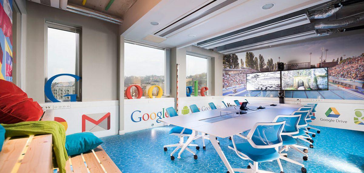 Google's kantoor in Boedapest, Hongarije (Graphasel Design Studio, foto door Atilla Balàzs)