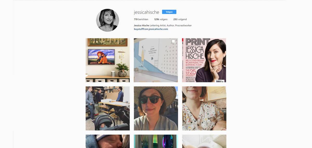 Jessica Hische's Instagram: online personal branding