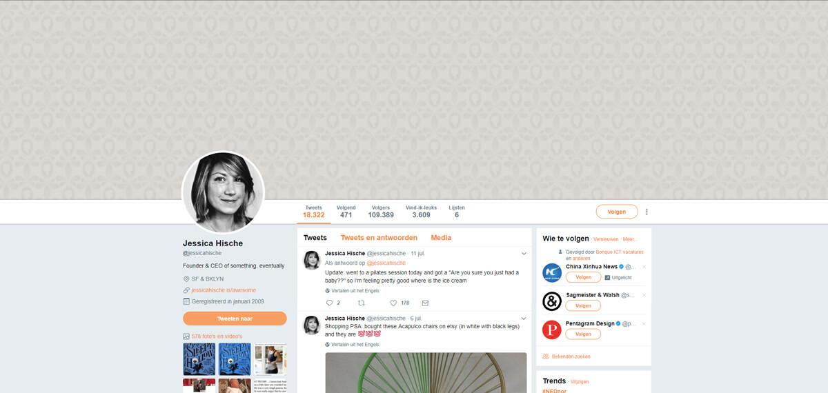 Jessica Hische's Twitter: online personal branding