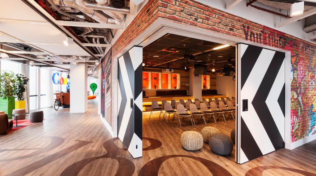 Google's kantoor in Amsterdam, Nederland (D/dock, foto door Alan Jensen)