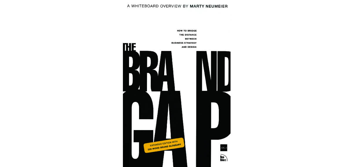 De cover van Marty Neumeier's boek 'The Brand Gap'