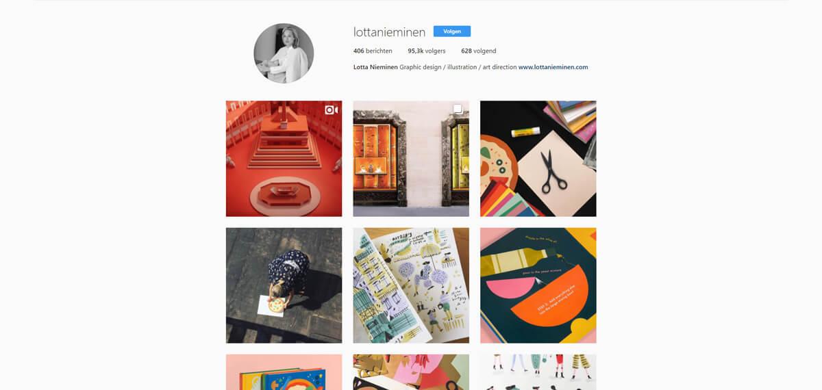 Lotta Nieminen's Instagram: online personal branding