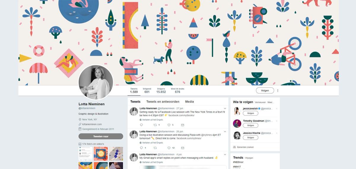 Lotta Nieminen's Twitter