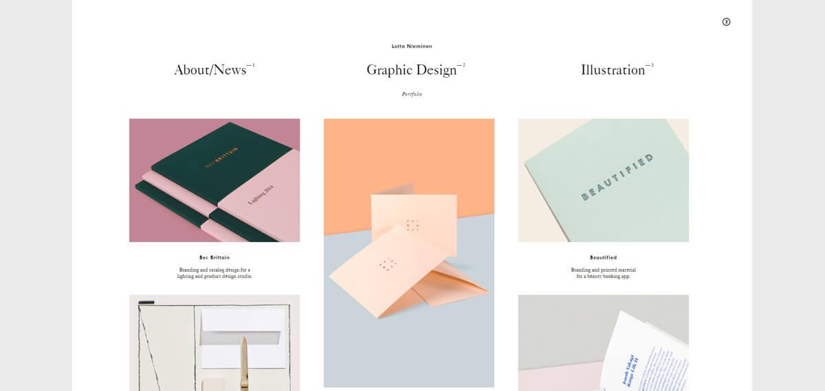 Lotta Nieminen's website: een online personal branding voorbeeld