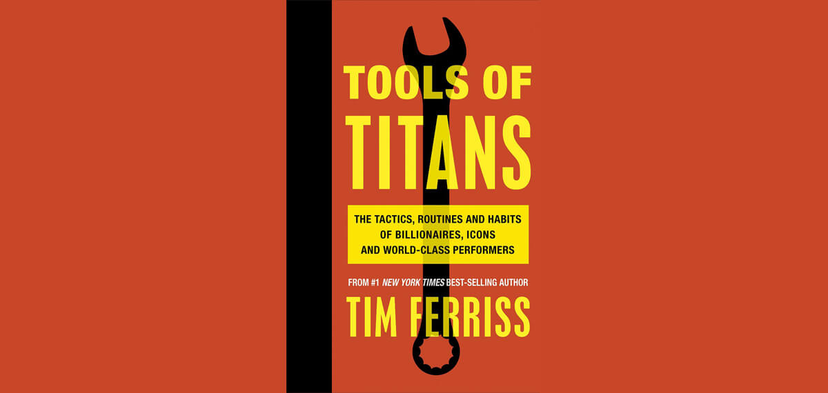 De cover van Tim Ferriss' boek 'Tools of Titans'